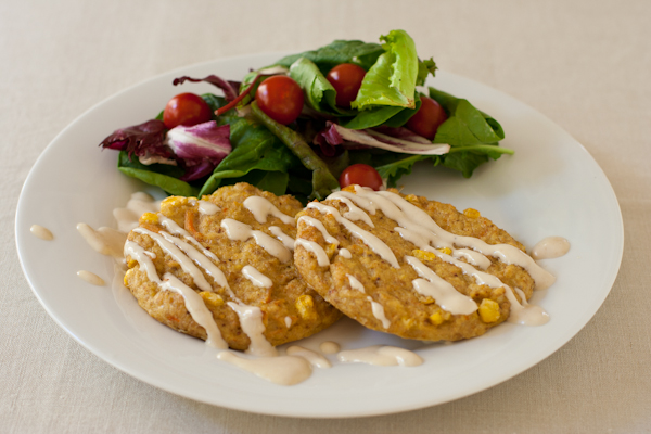 Flashback Fridays: gluten-free crab cakes with fresh corn