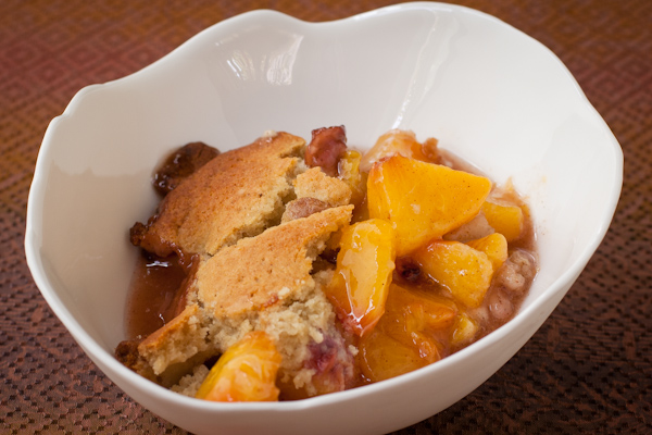 Peach Cobbler Gluten-free sugar-free