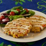 Corn Red Pepper Bacon Cakes