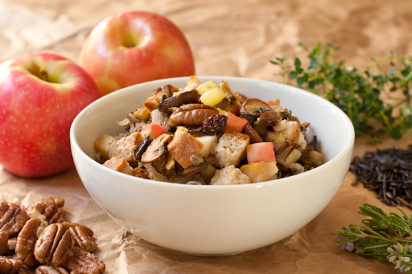 Gluten-free wild rice stuffing recipe with cornbread