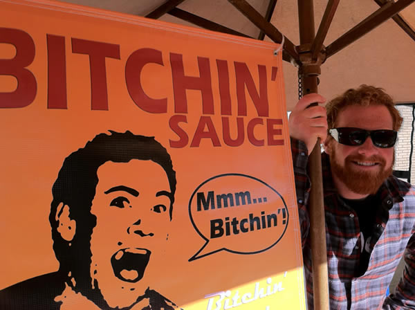Ryan Smith sells Bitchin Sauce in San Diego
