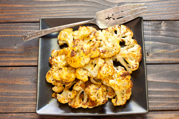 Roasted Curried Cauliflower from Stephanie Weaver | Gluten-free, vegan, low-sodium