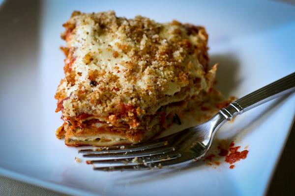 Vegan gluten-free lasagne