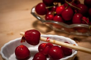 How to pit fresh cherries