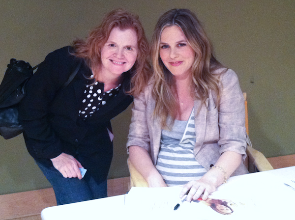 Alicia Silverstone book signing with Stephanie Weaver