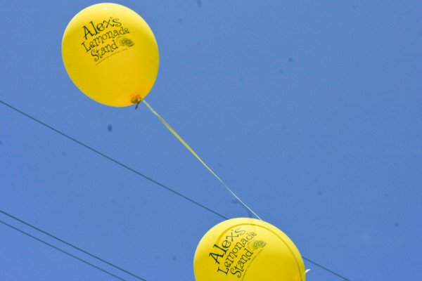 Pediatric cancer fundraiser balloons