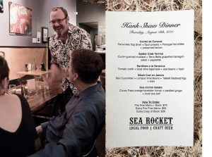 Sea Rocket Bistro with author Hank Shaw