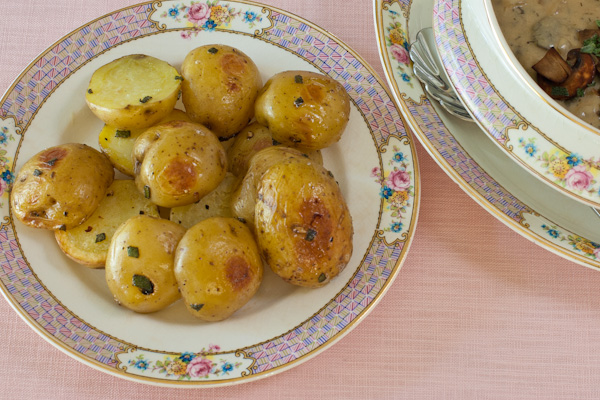 Sage-roasted baby potatoes
