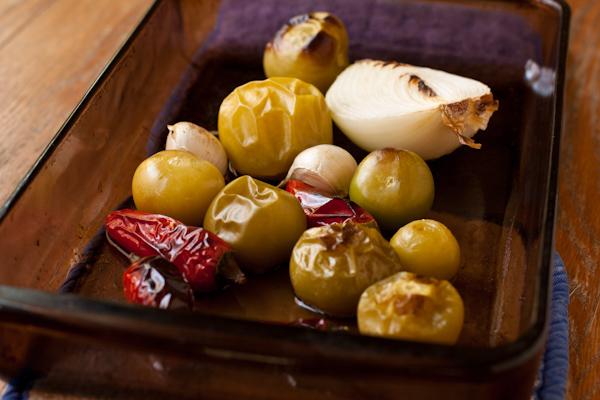Roasted Tomatillo Salsa_process