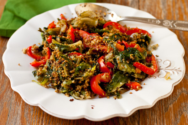 Utica greens, escarole sauteed with peppers