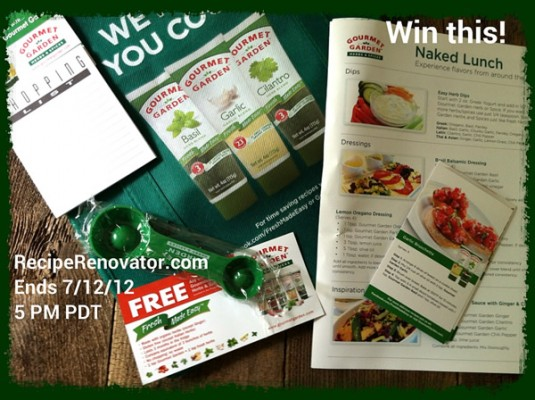 Reader sweepstakes: Gourmet Garden herb blends