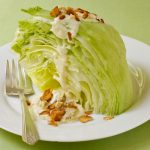 Iceberg wedge salad with vegan blue cheese dressing