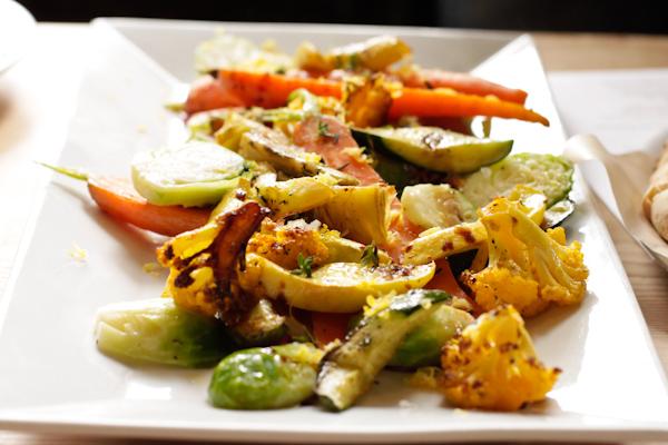 La Bicyclette restaurant roasted vegetable platter
