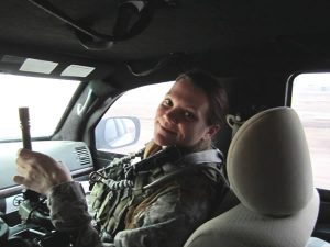 Lt. Colonel Pam Alley, serving in Iraq