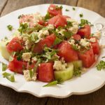Watermelon Salad with tofu feta from Recipe Renovator