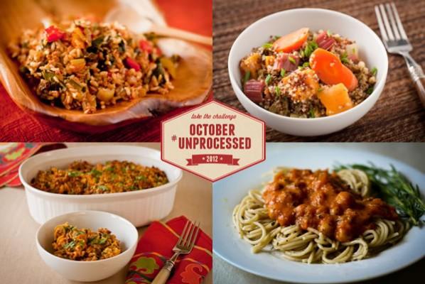 October Unprocessed Week 3: Dinner