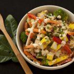 Rice Bowl Salad with Kaffir Lime Cream Sauce