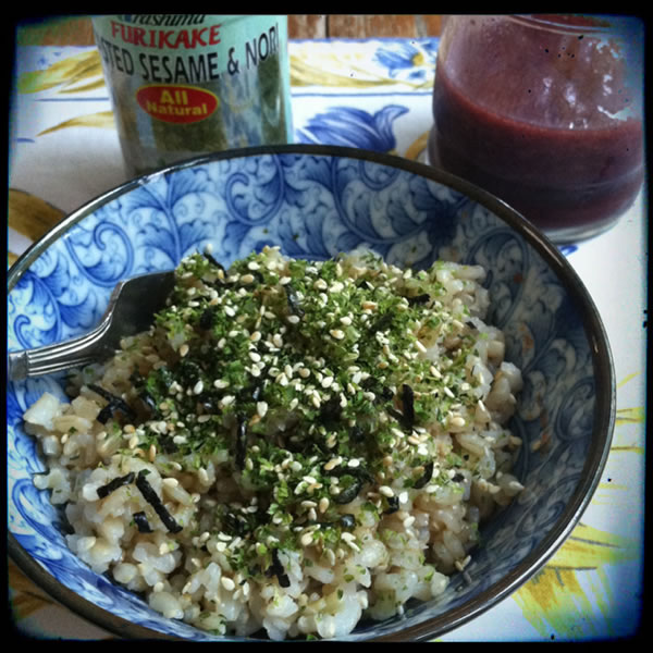 Brown Rice with Furikake