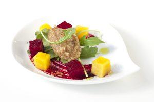 Beet Salad Beet Reduction Walnut Chutney
