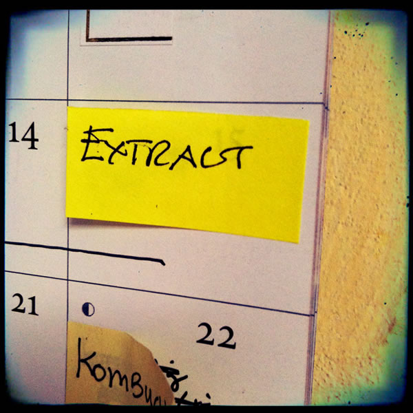 Calendar reminder for extract