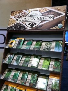 garden seeds display at Fresh Summit October 2012