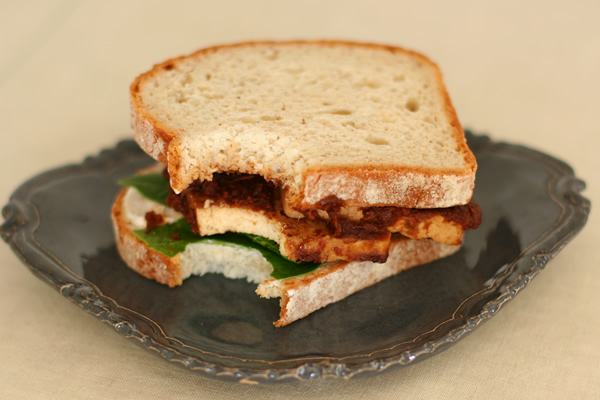 Barbecue Tofu Sandwiches Recipe — Dishmaps