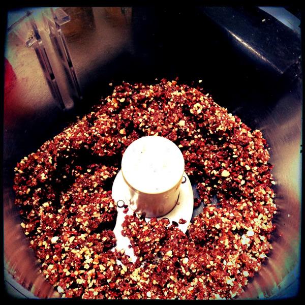 Raw chocolate-date-pecan truffle mixture | Recipe Renovator
