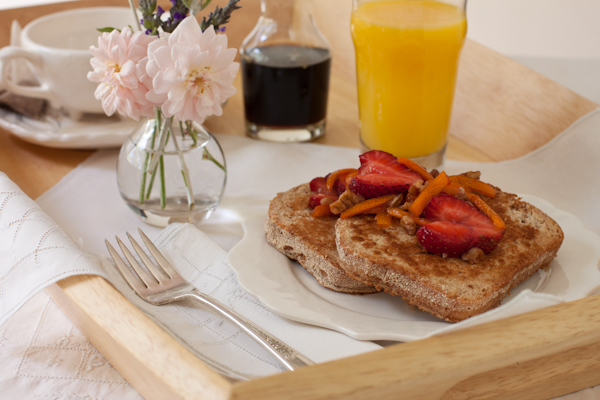French toast, egg- and dairy-free