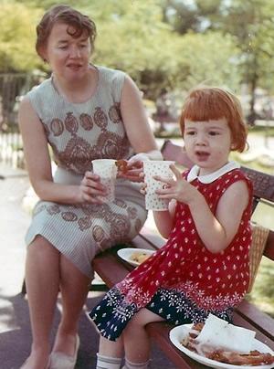 Me and my mom, circa 1965