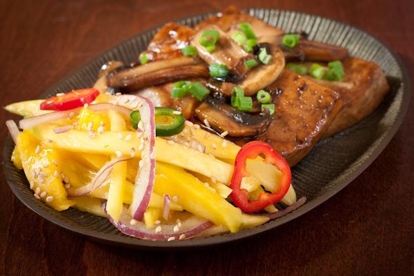 Mango salad & caramelized tofu from Herbivoracious | Recipe Renovator