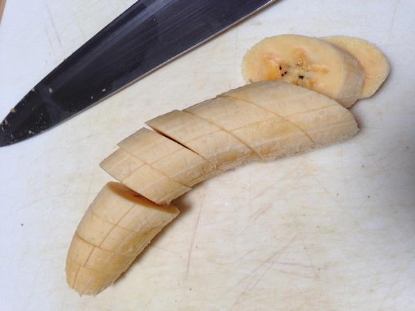 Slice plantains | Recipe Renovator