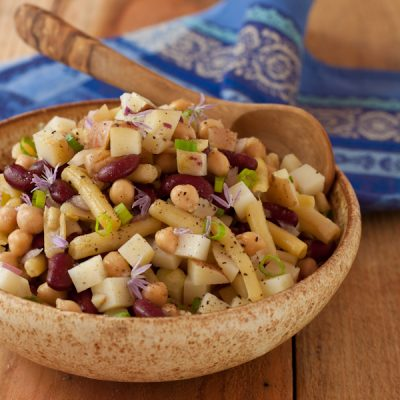 Three bean and potato salad