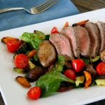 Steak and roasted potato salad | Photo by Rustic Garden Bistro for Recipe Renovator