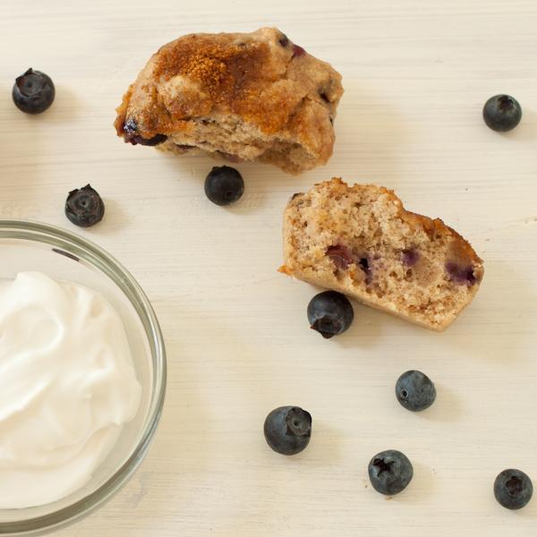 Blueberry Sour Cream Muffins | Recipe Renovator | Gluten-free | Vegan