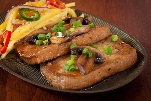 Caramel-cooked tofu from Herbivoracious by Michael Natkin | Recipe Renovator