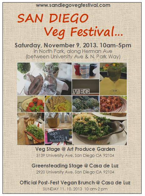 San Diego VegFest flyer