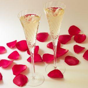 Champagne glasses by Recipe Renovator