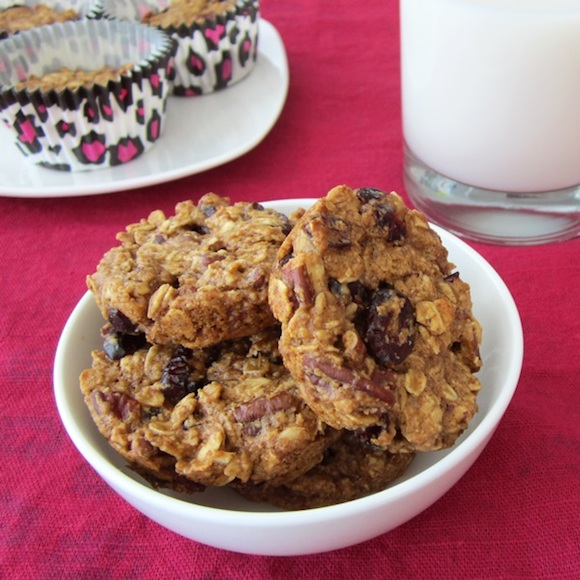 Healthy oatmeal breakfast cookie from Go Dairy Free | Month O' Cookies on Recipe Renovator