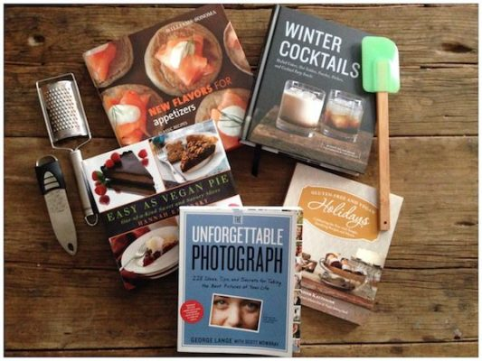 December readers' sweepstakes: 5 books plus kitchen tools and Frieda's dried fruits