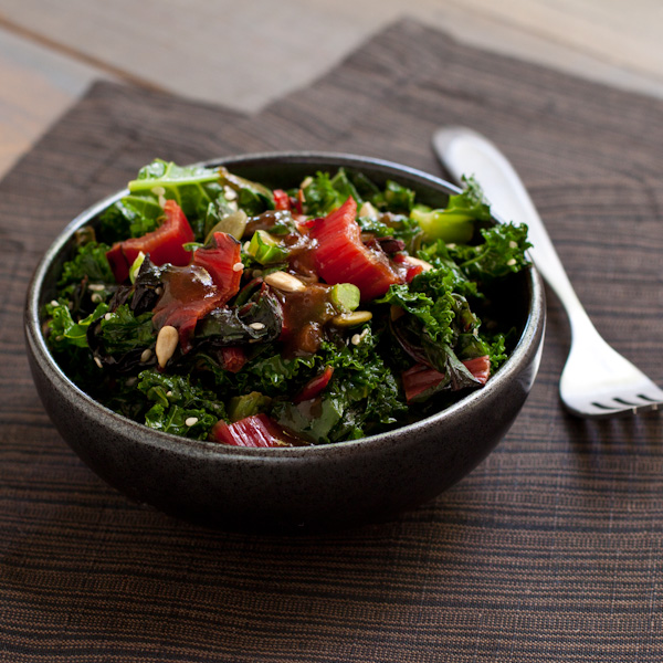 Spicy kale and Swiss chard sauté | Low-sodium, migraine friendly | Recipe Renovator