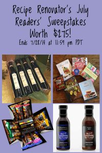 July Readers' Sweepstakes on Recipe Renovator: Ends 7/28/14 at 11:59 PDT