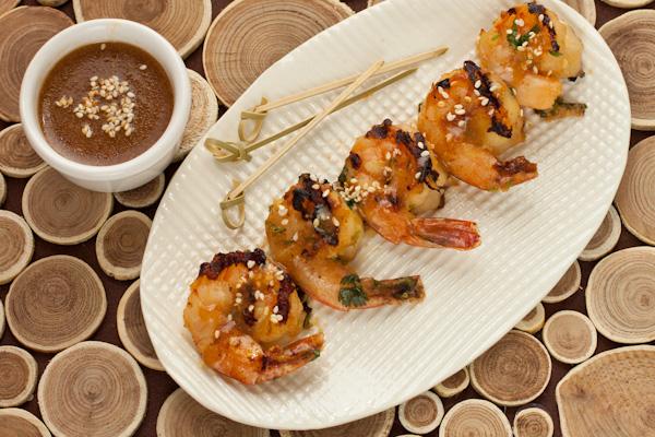 Blood Orange Glazed Grilled Shrimp | Gluten-free | Recipe Renovator