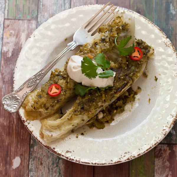 "Chicken ""enchiladas"" | Recipe Renovator | paleo, gluten-free, low-sodium"