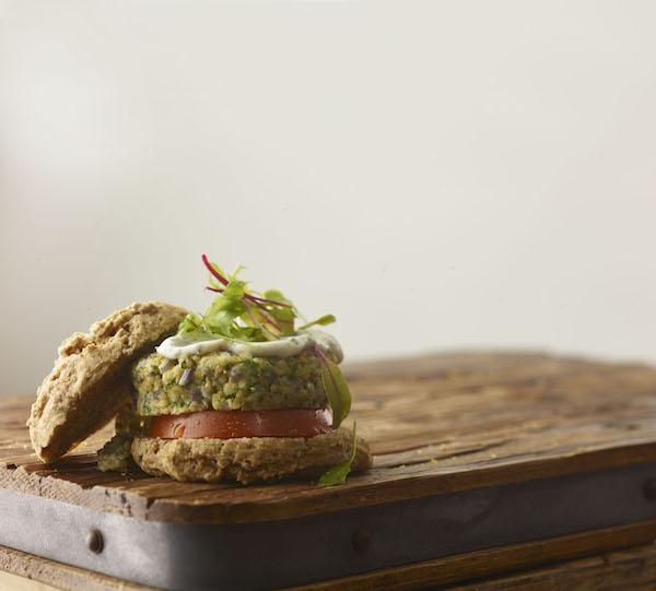 Chickpea Hemp Veggie Burgers from Ancient Grains by Kim Lutz