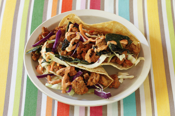 Spicy Turkey Tacos, street-style, from Recipe Renovator. Healthy, quick, easy one-dish meal. Gluten-free, paleo-friendly, dairy-free.