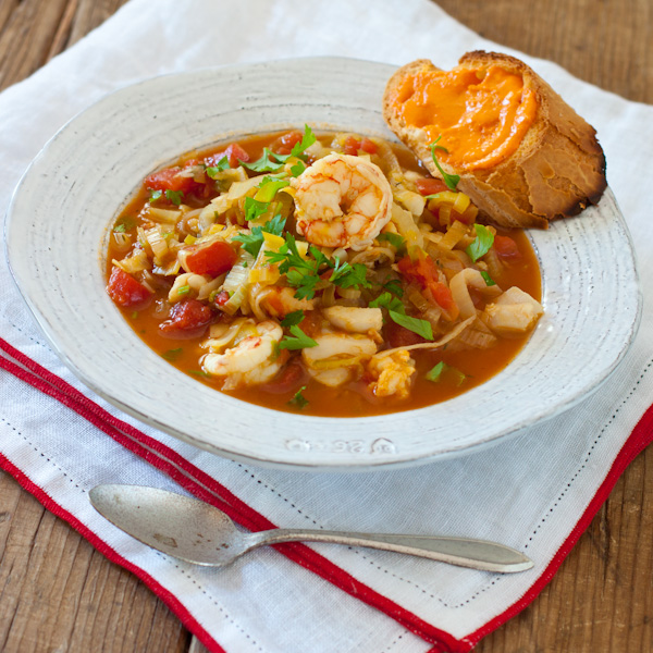 Bouillabaisse and rouille | Gluten-free, paleo (without the bread), dairy-free, healthy!