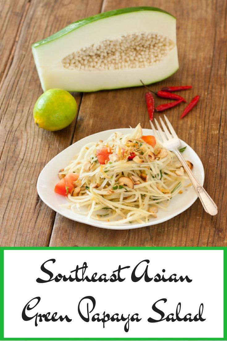 Southeast Asian Green Papaya Salad from Recipe Renovator | Gluten-free, paleo, dairy-free, low-carb, vegan option